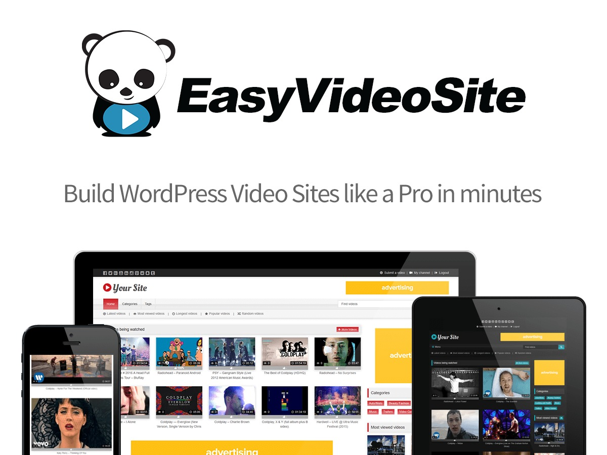 EVS Theme WordPress video template