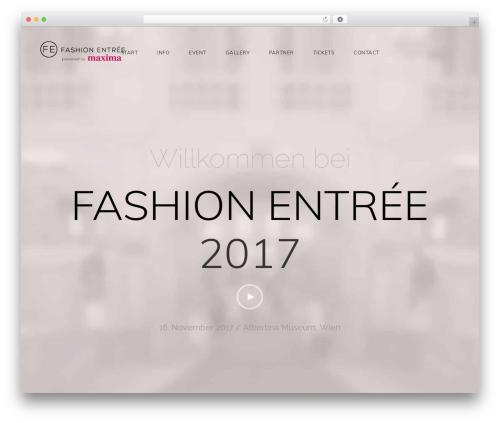 Fashion Entreé fashion WordPress theme - fashion-entree.com
