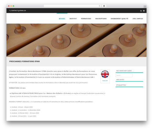 Formation free WP theme - formation-montessori.ch