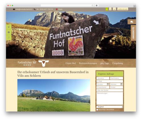 Funtnatscherhof theme WordPress - funtnatscherhof.it