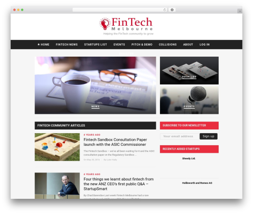 Hickory best WordPress theme - fintechmelbourne.org