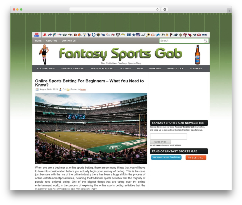 iMobile newspaper WordPress theme - fantasysportsgab.com
