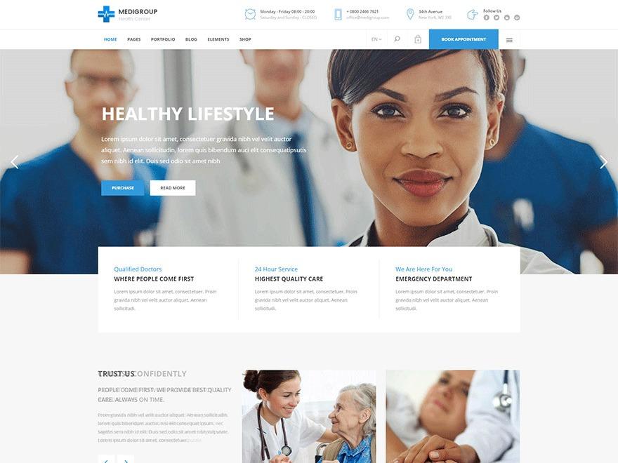 Medigroup medical WordPress theme