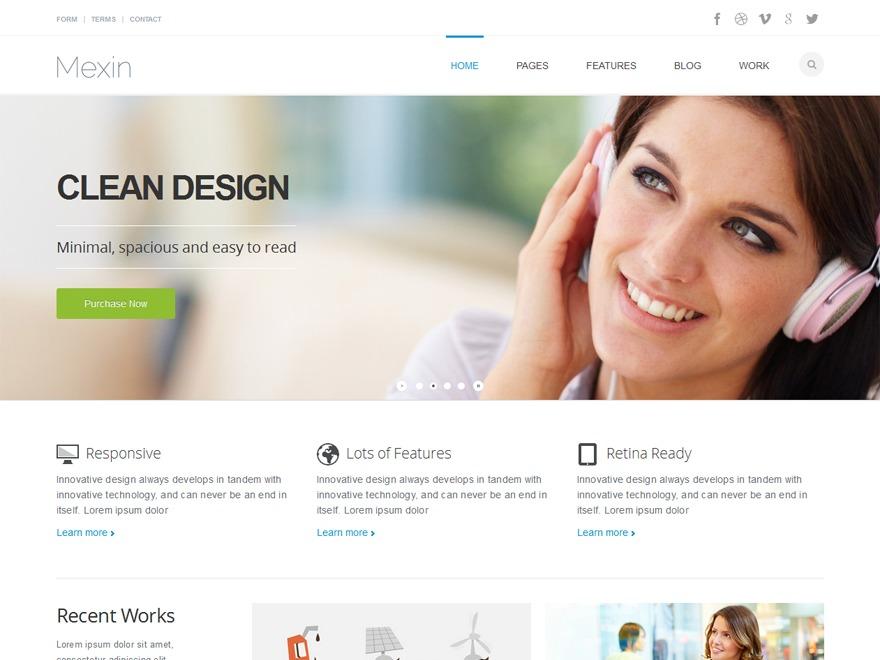 Mexin business WordPress theme