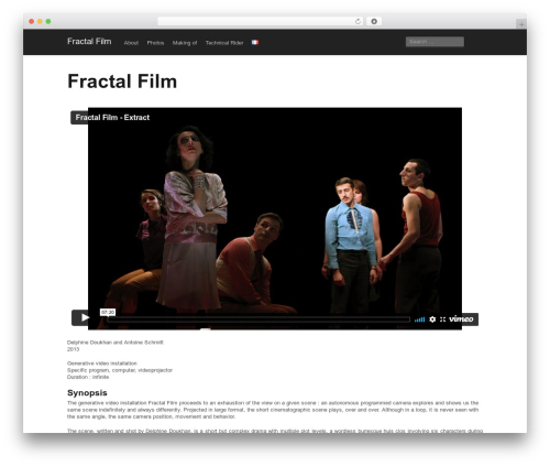 Mixfolio template WordPress - fractalfilm.net/about