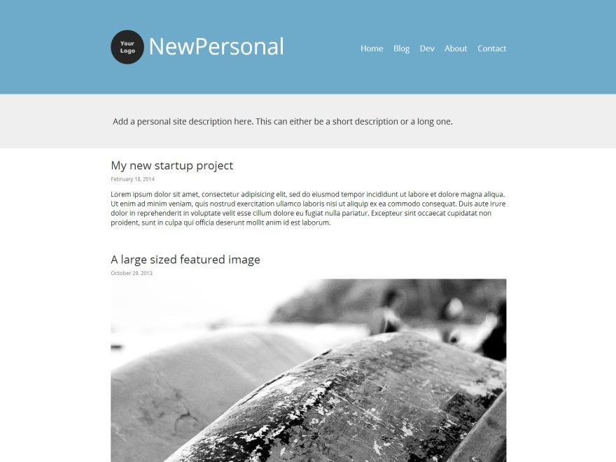 NewPersonal WordPress theme image