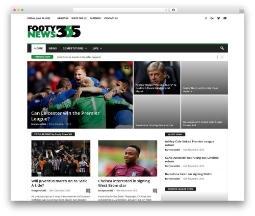 NewsMag WordPress news template - footynews365.com