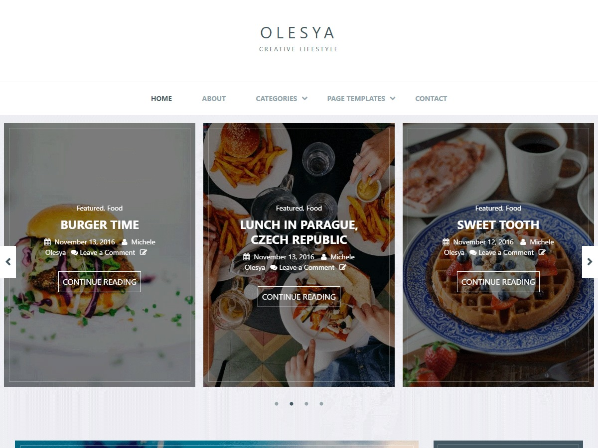 Olesya Lite free WordPress theme