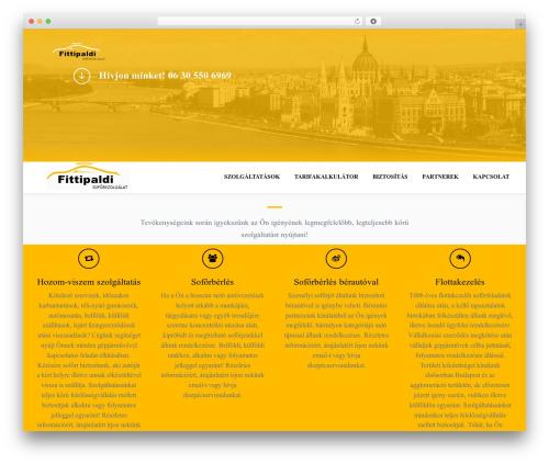 OneEngine WordPress theme - fittipaldi.hu