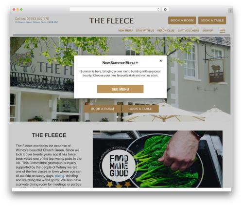 Peach Pubs WordPress website template - fleecewitney.co.uk