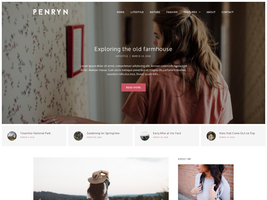 Penryn WordPress blog theme