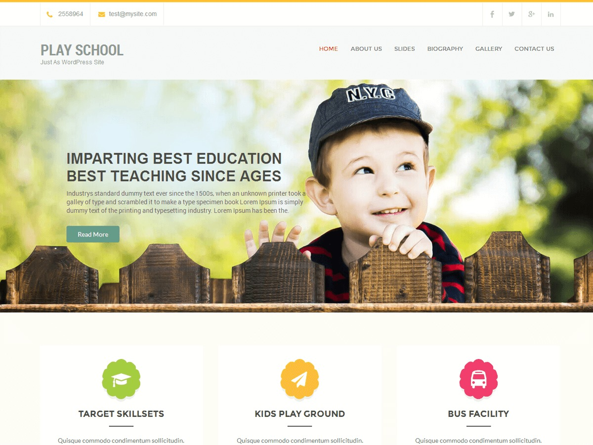 Play School free WordPress theme
