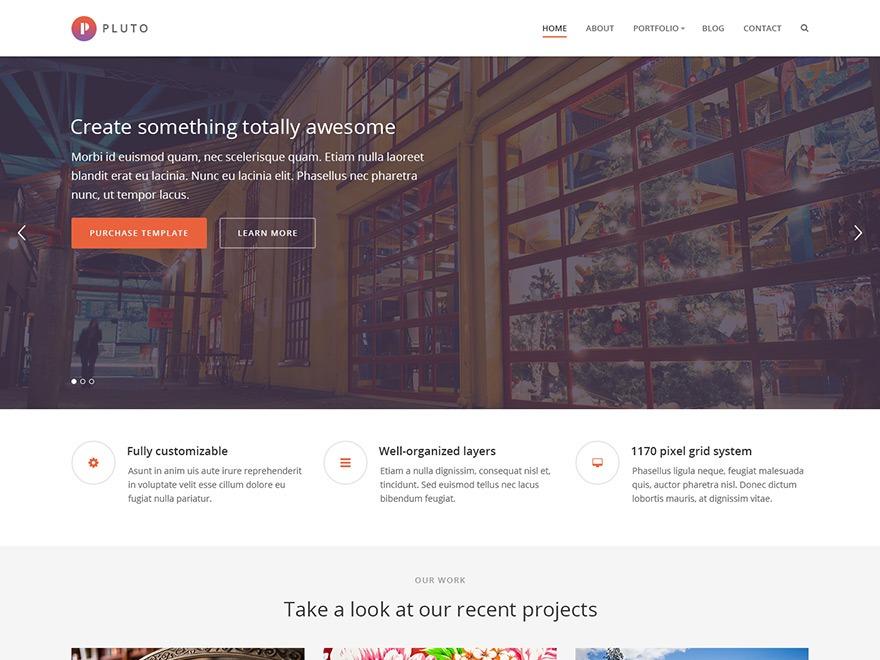 Pluto best WordPress template