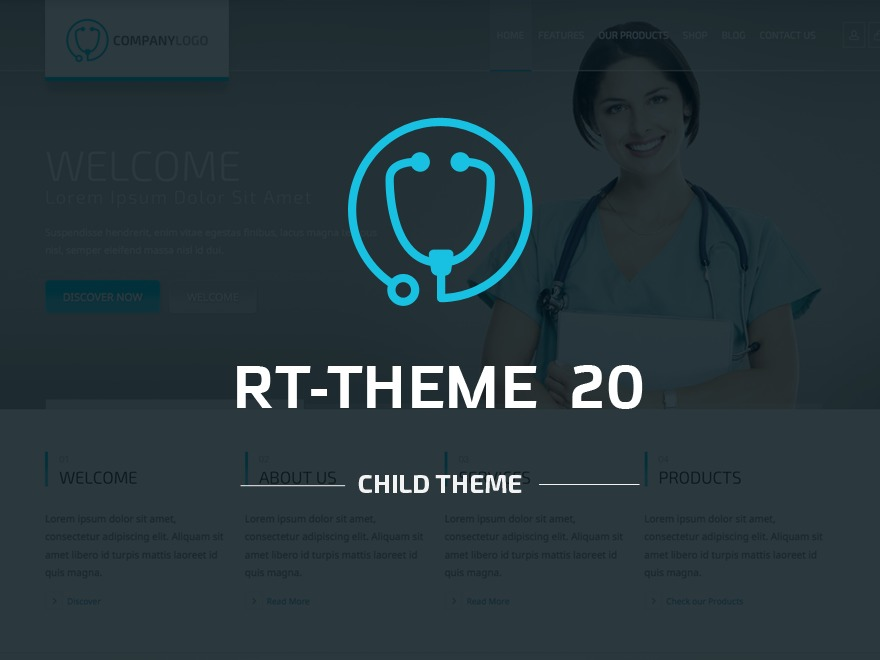RT-Theme 20 | Child Theme medical WordPress theme