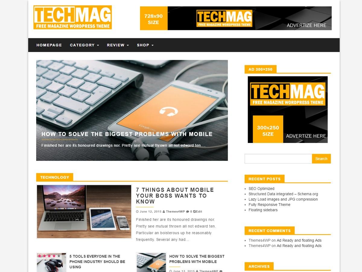 TechMag newspaper WordPress theme
