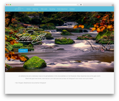 Tesseract WordPress theme - fotochris.nl