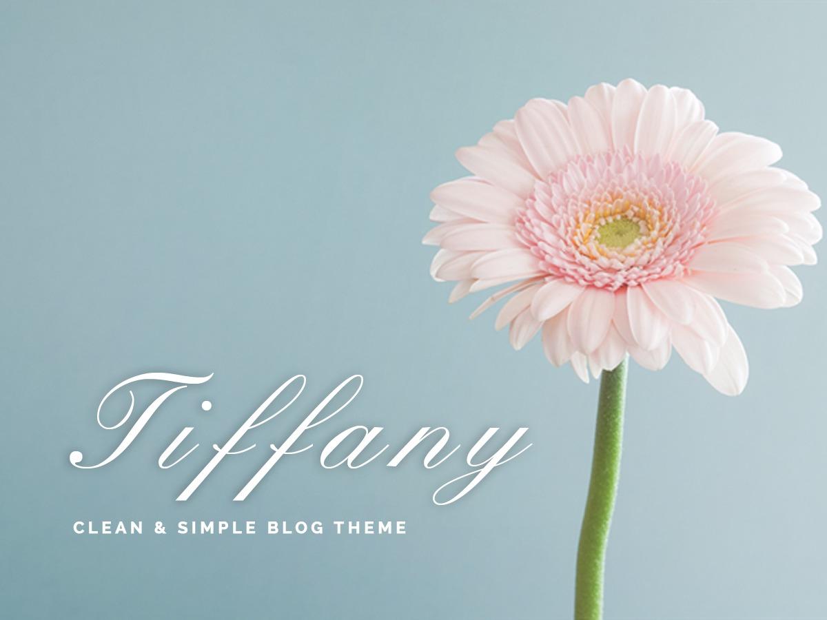 Tiffany WordPress blog template
