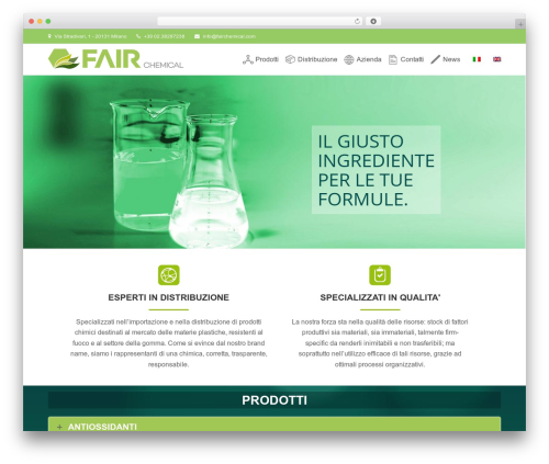 Total WordPress theme - fairchemical.com