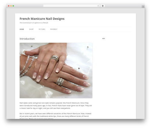 Twenty Twelve WordPress template free download - frenchmanicures.com