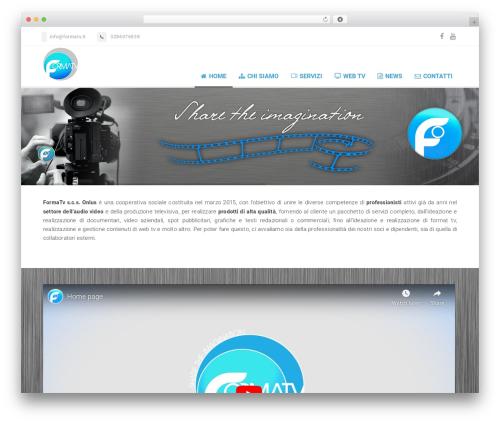 WordPress website template Florida (shared on wplocker.com) - formatv.it