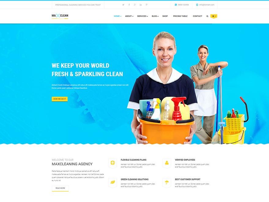 WP Maxclean premium WordPress theme