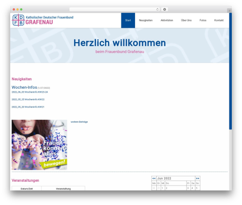WP theme Advertica - frauenbund-grafenau.de