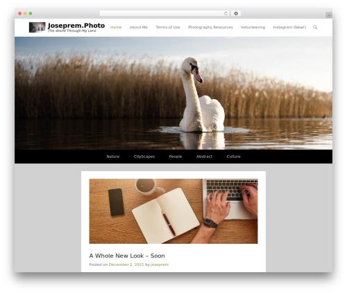 Adventurous template WordPress free - joseprem.photo