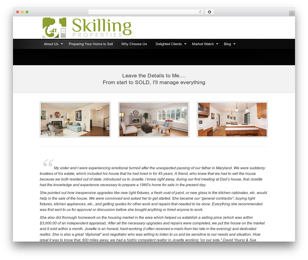 Genesis WordPress theme design - josetteskilling.com