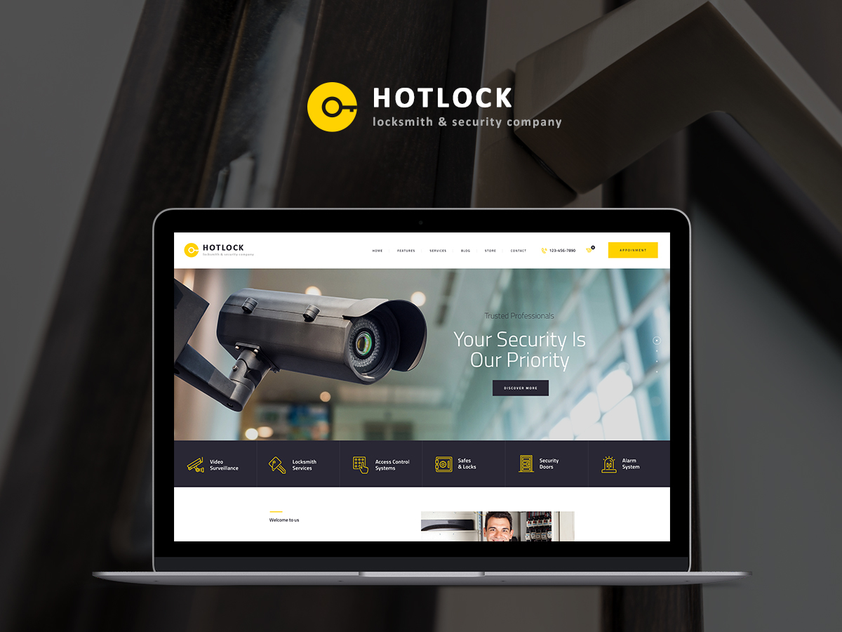Hotlock business WordPress theme