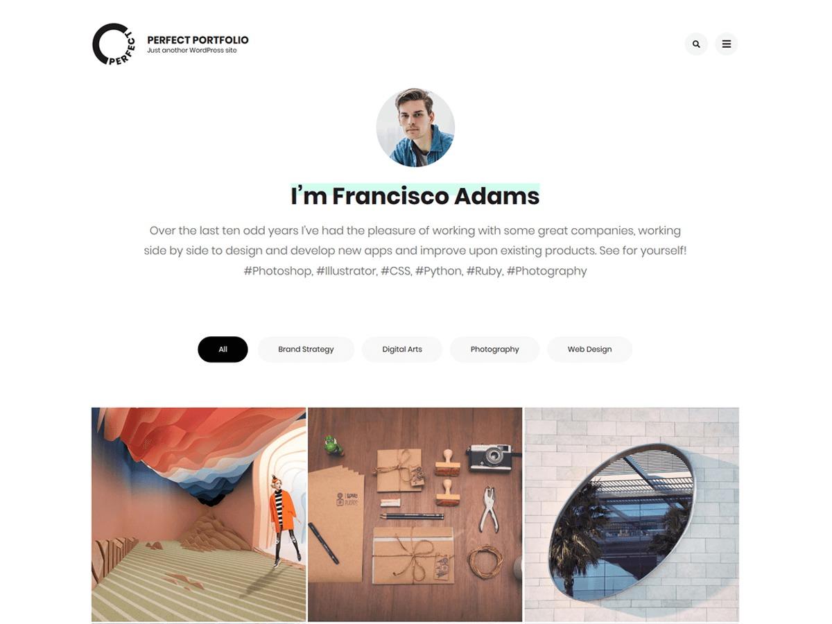 Perfect Portfolio theme WordPress portfolio