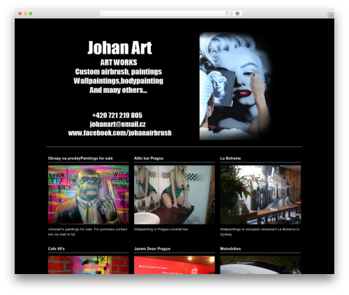 WordPress theme Photoria - johanart.cz