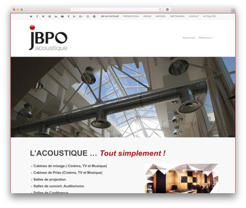 WordPress theme Salient - jbpo-acoustique.com