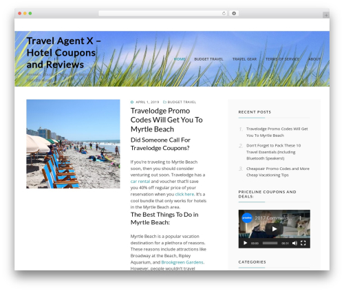 Cell free WordPress theme - travelagentx.com