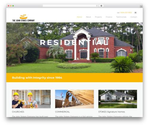 Construction business WordPress theme - jstokesco.com
