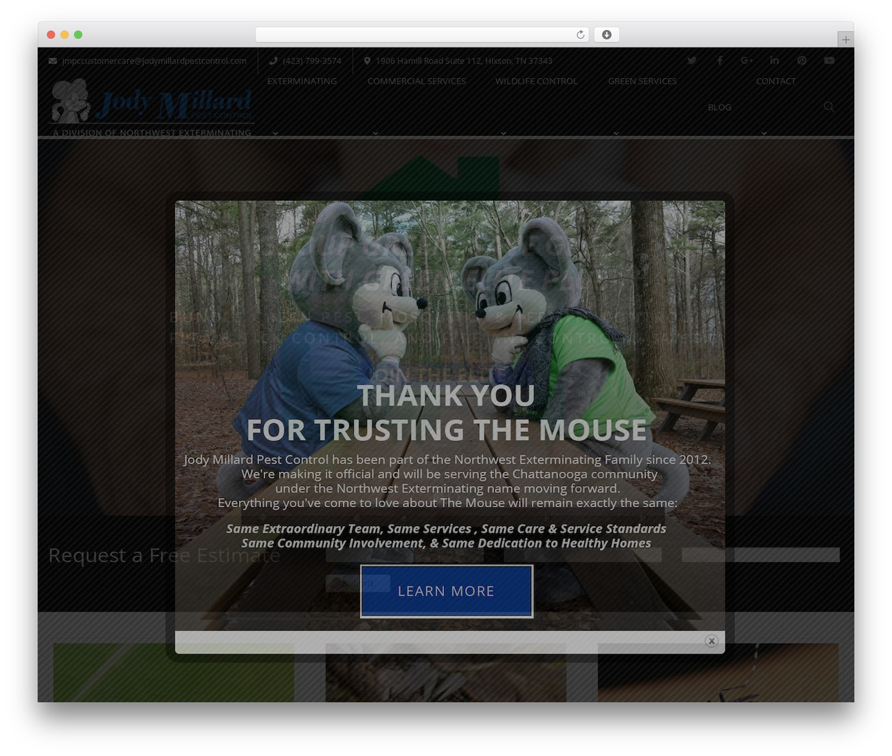 Creativo Theme company WordPress theme - jodymillardpestcontrol.com