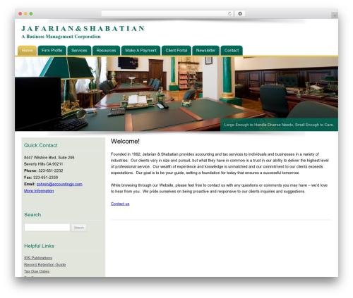 Customized WordPress page template - jsaccountingfirm.com