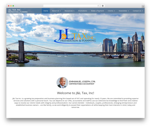 Customized3 company WordPress theme - jandltax.com
