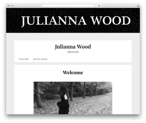 Datar theme WordPress free - juliannawood.dk