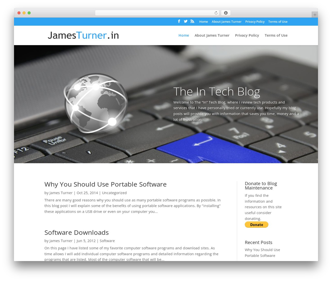 Divi WordPress theme - jamesturner.in