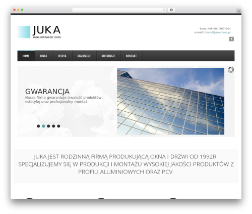 GoodSimple WordPress theme - juka-okna.pl