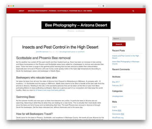 NewsBlog WordPress page template - jenniferswensonphotography.com