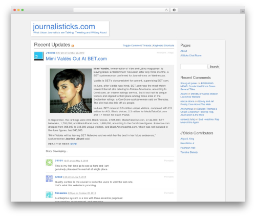 P2 WordPress template free - journalisticks.com