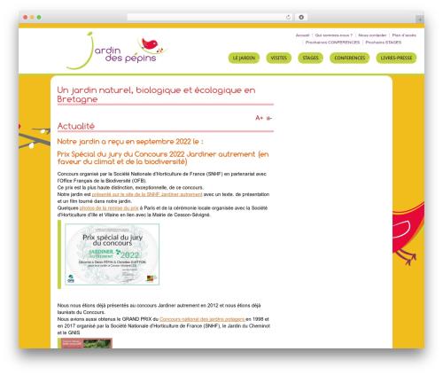 Responsive WordPress website template - jardindespepins.fr