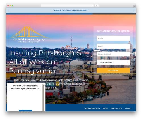 Template WordPress BrightFire Stellar - jssmithinsurance.com