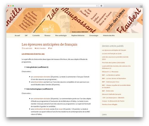 WordPress template Twenty Thirteen - jardindeslettres.org