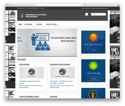WordPress website template Smartpress - jogoexcessivo.jogoremoto.pt