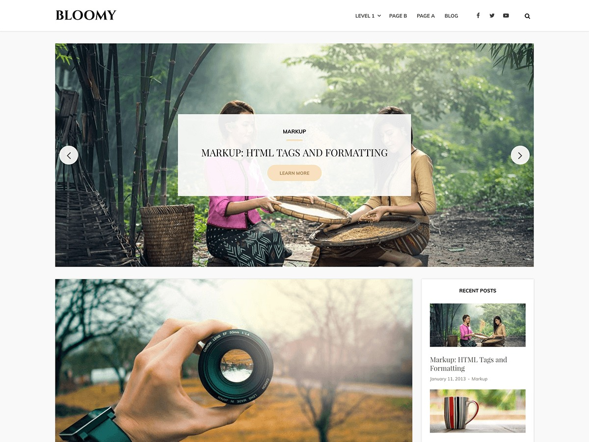 Bloomy best WordPress theme