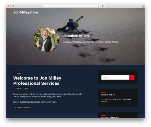 Identity free WordPress theme - jonmilley.com