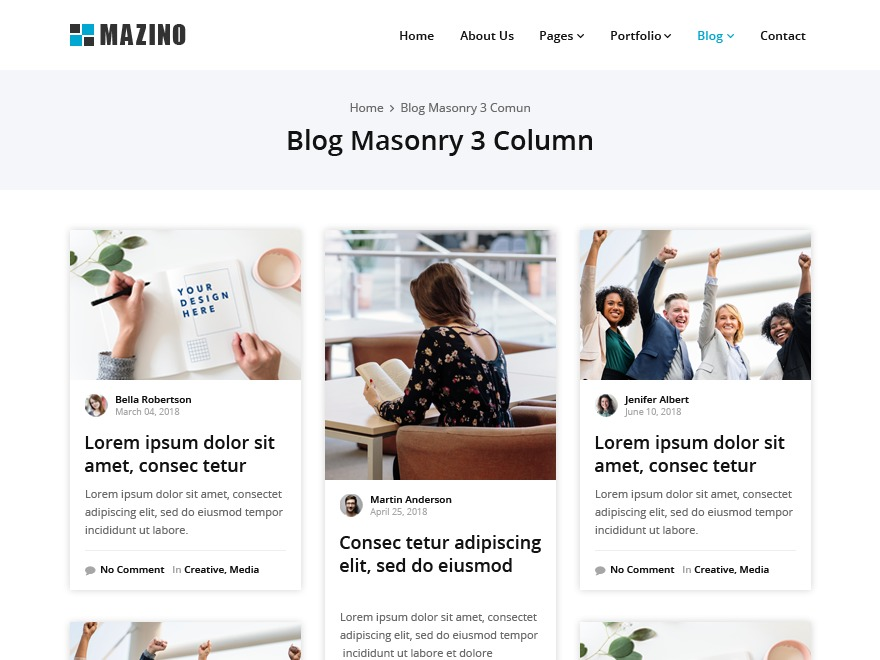 Mazino WordPress blog theme