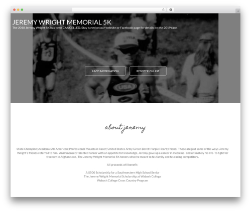 MinimalZerif WordPress theme design - jeremywright5k.com